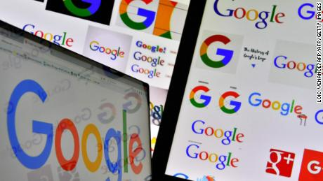 "(FILES) This file photo taken on November 20, 2017 shows shows logos of US technology company Google displayed on computer screens. Google is accused of illegally collecting data belonging to more than five million UK iPhone users, in a mass legal action launched on November 30, 2017. A campaign group dubbed 'Google You Owe us' says the tech giant owes consumers ""trust, fairness and money"" after unlawfully placing cookies on mobile phones between 2011 and 2012.  / AFP PHOTO / LOIC VENANCELOIC VENANCE/AFP/Getty Images"