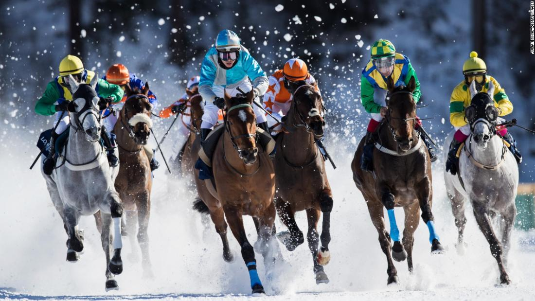 <strong>White Turf: </strong>The annual White Turf horse races are a mainstay of the social calendar with a variety of events from flat racing and trotting to skijoring, where a skier is towed behind a galloping horse.