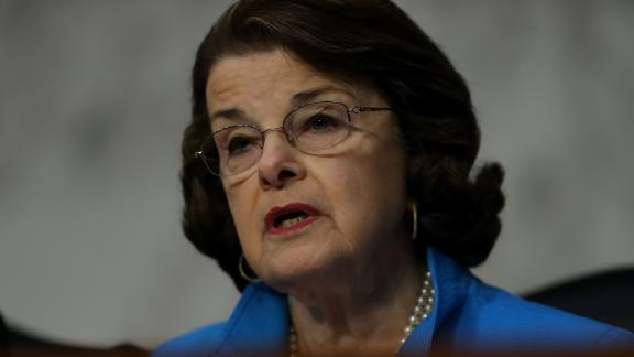 WASHINGTON, DC - MARCH 20:   Senate Judiciary Committee ranking member Dianne Feinstein (D-CA) speaks during the first day of the Supreme Court confirmation hearing for Judge Neil Gorsuch before the Senate Judiciary Committee in the Hart Senate Office Building on Capitol Hill March 20, 2017 in Washington, DC. (Justin Sullivan/Getty Images)