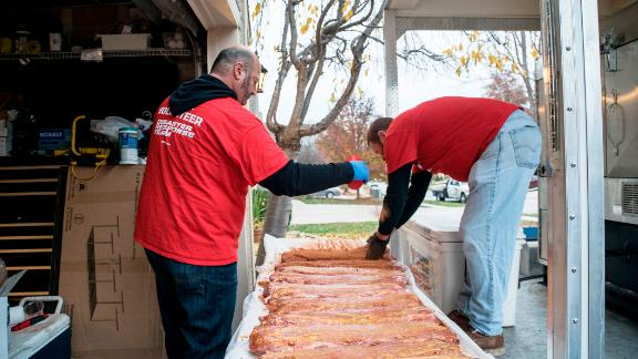 During the last six years, the group has responded to almost 45 disasters across the United States, such as Hurricanes Harvey and Irma and the wildfires in northern California. More than 6,800 volunteers have joined the effort, and the group often partners with other organizations to distribute the meals.