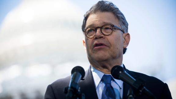 WASHINGTON, DC - JUNE 9:   Sen. Al Franken (D-MN) speaks to reporters at a news conference dubbed #WeThePeople outside the Capitol on June 9, 2016 in Washington, D.C. Senate Democrats unveiled a new legislative proposal that will reform campaign finances and ensure fairer elections. (Photo by Gabriella Demczuk/Getty Images)