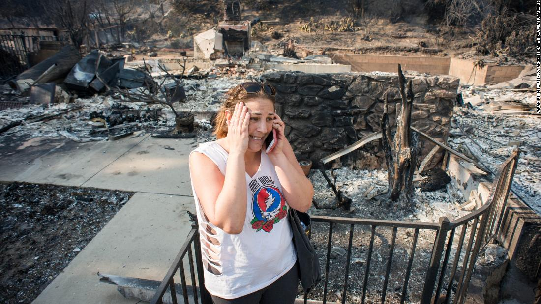 """Daddy, the home is gone,"" Amanda Lewis tells her family on December 6. The Thomas Fire raged through her parents' foothill neighborhood in Ventura."