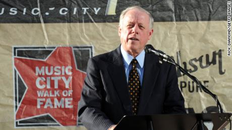 NASHVILLE, TN - NOVEMBER 08:  Tennessee Governor Phil Bredesen speaks about Singer & Songwriter Dolly Parton during her induction into the Music City Walk of Fame, At Hall of Fame Park on November 8, 2009 in Nashville, Tennessee.  (Rick Diamond/Getty Images)