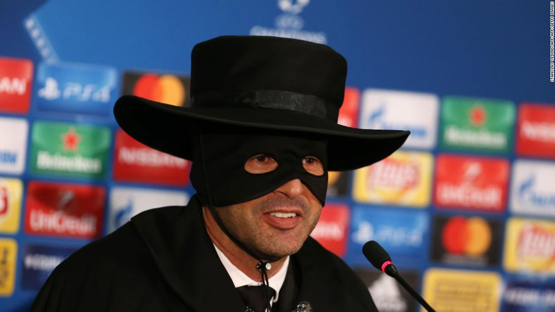 Shakhtar Donetsk manager Paulo Fonseca celebrated his side's qualification to the knockout stages by turning up to his press conference dressed as Zorro! The Ukrainians needed a draw against Manchester City to guarantee a place in the round of 16 but went one better by handing Guardiola his first defeat of the season -- and 29 games!