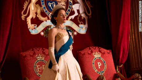 "Claire Foy as Queen Elizabeth in ""The Crown."""