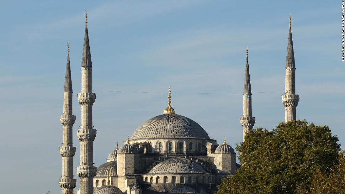"The Sultan Ahmet Mosque -- otherwise known as the ""Blue Mosque"" -- in Istanbul dates from the early 17th century and is a symbol of Ottoman might. Located across from the Hagia Sophia, it combines Byzantine and Islamic aesthetics. Doug Chiang's <a href=""https://i.pinimg.com/originals/46/ce/cc/46cecc74b582c4ed4387bd856e498e8c.jpg"" target=""_blank"">concept art</a> for Theed's cliff-edge palace contains many of the same features, including a minaret-like tower."