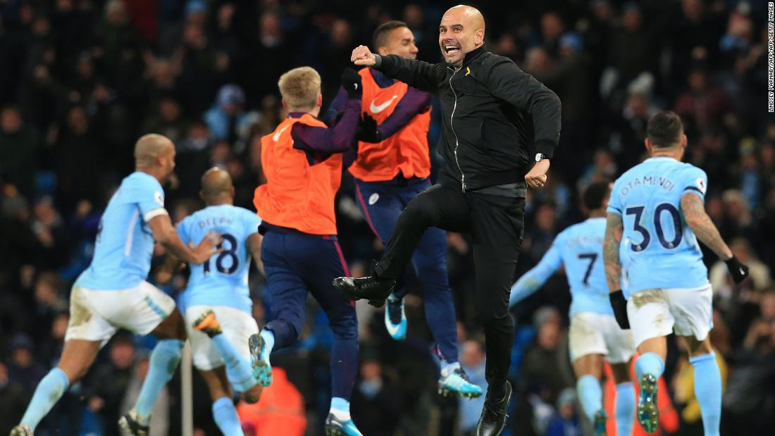 In their last three Premier League outings, City have scored the winner inside the last seven minutes -- including Raheem Sterling's 96th-minute winner at home to Southampton which sparked these wild scenes.