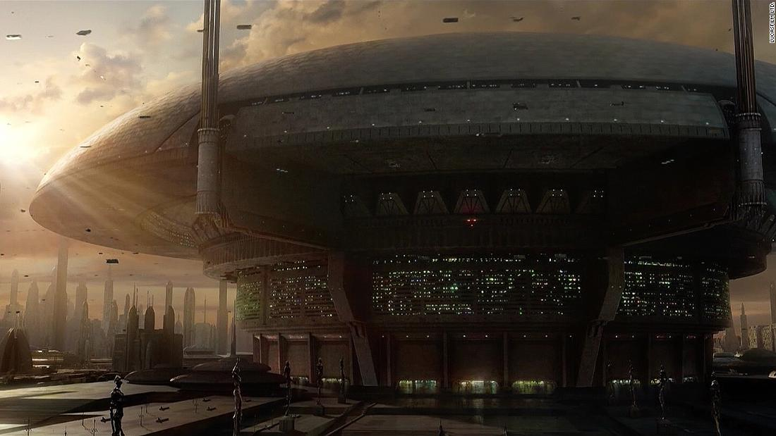 Much of the action on Coruscant -- if we can call it that -- takes place in the Senate. The Republic Executive Building building, a beehive of spacecraft coming and going, is topped with a dome that harks back to Oscar Niemeyer's domed senate chamber in Brasilia.