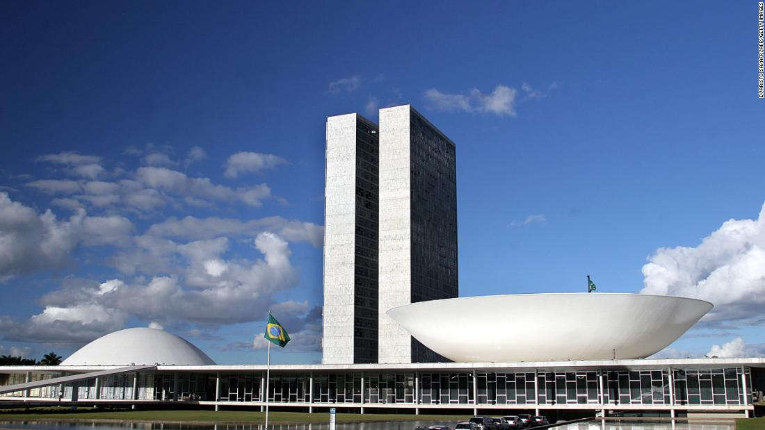 "Niemeyer's Brazilian National Congress, inaugurated in 1960, is one of many modern structures defining the capital Brasilia. The senate dome (left) may be an inspiration behind the senate in ""Star Wars,"" but the link remains unconfirmed."