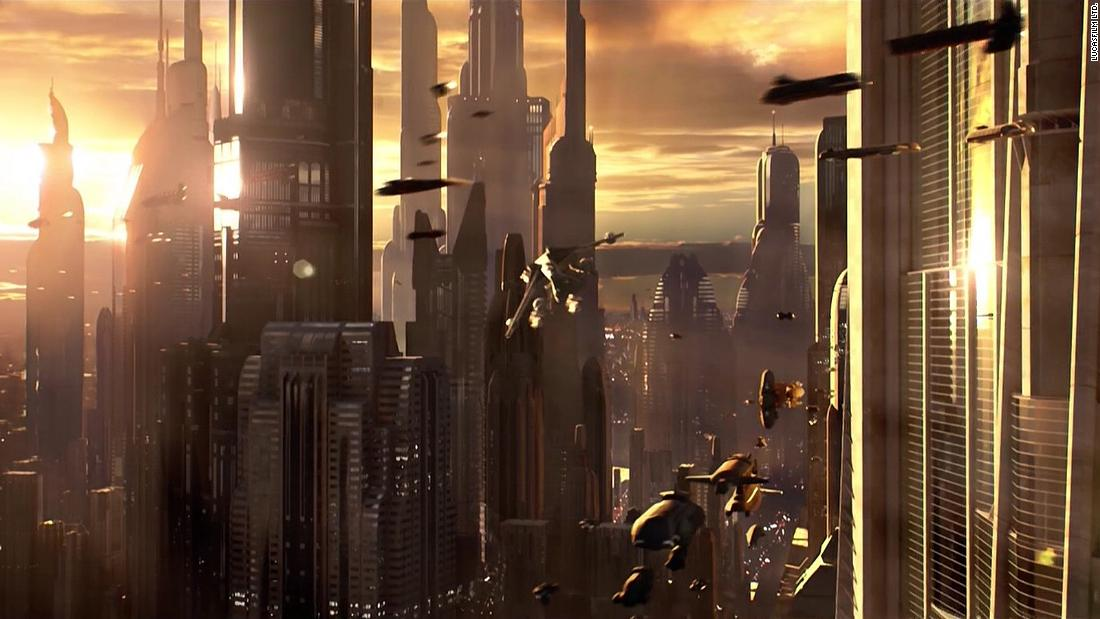 "Reat says the city planet Coruscant (Pictured in ""Episode III: Revenge of the Sith"") was inspired by Trantor, a planet from the ""Foundation"" series of sci-fi novels by Isaac Asimov, written in the 1940s."