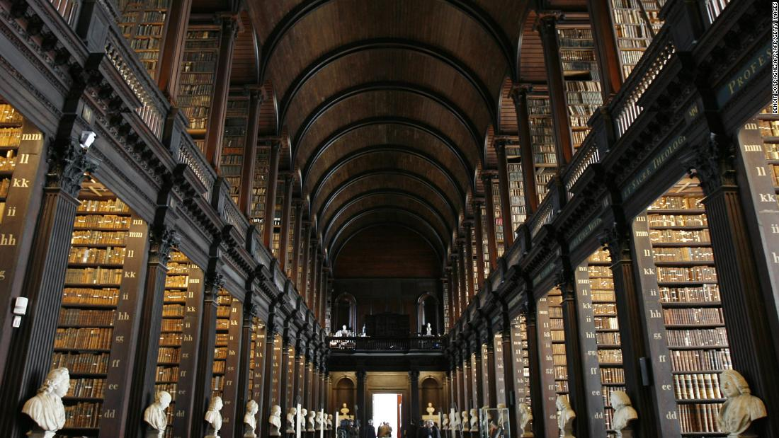 "The library Long Room at Trinity College, Dublin, pictured in 2007. Completed in 1732, the room is 213 feet long and contains over 200,000 books. There were <a href=""https://www.irishtimes.com/news/trinity-considers-legal-action-over-image-in-star-wars-film-1.1126056"" target=""_blank"">stirrings in the Irish press</a> that the college was seeking legal advice after the release of ""Attack of the Clones"" in 2002, but nothing came of it."