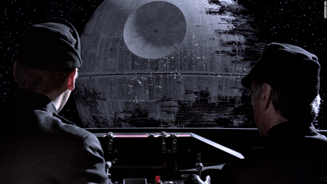 "The second Death Star in ""Return of the Jedi"" was conspicuously incomplete, but its weapon was fully operational. The Imperial aesthetic, down to officer's uniforms, was heavily-indebted to Nazi Germany, all part of Lucas and McQuarrie's choice to easily signpost the galaxy's baddies."