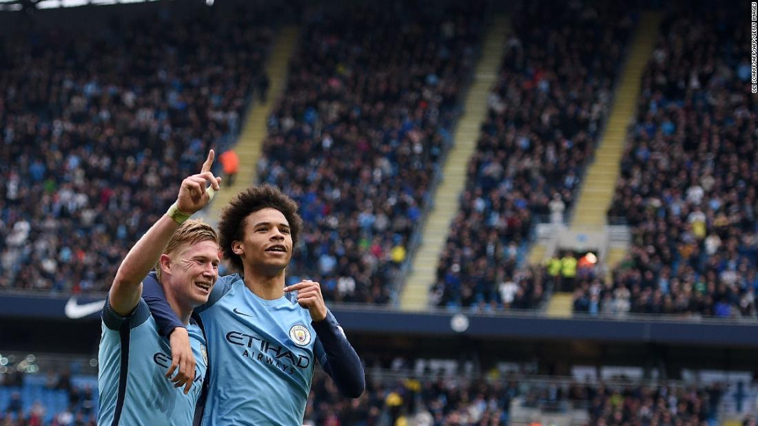 City also possess this season's assist kings. Kevin De Bruyne, David Silva and Leroy Sane make up three of the Premier League's top fo ur.