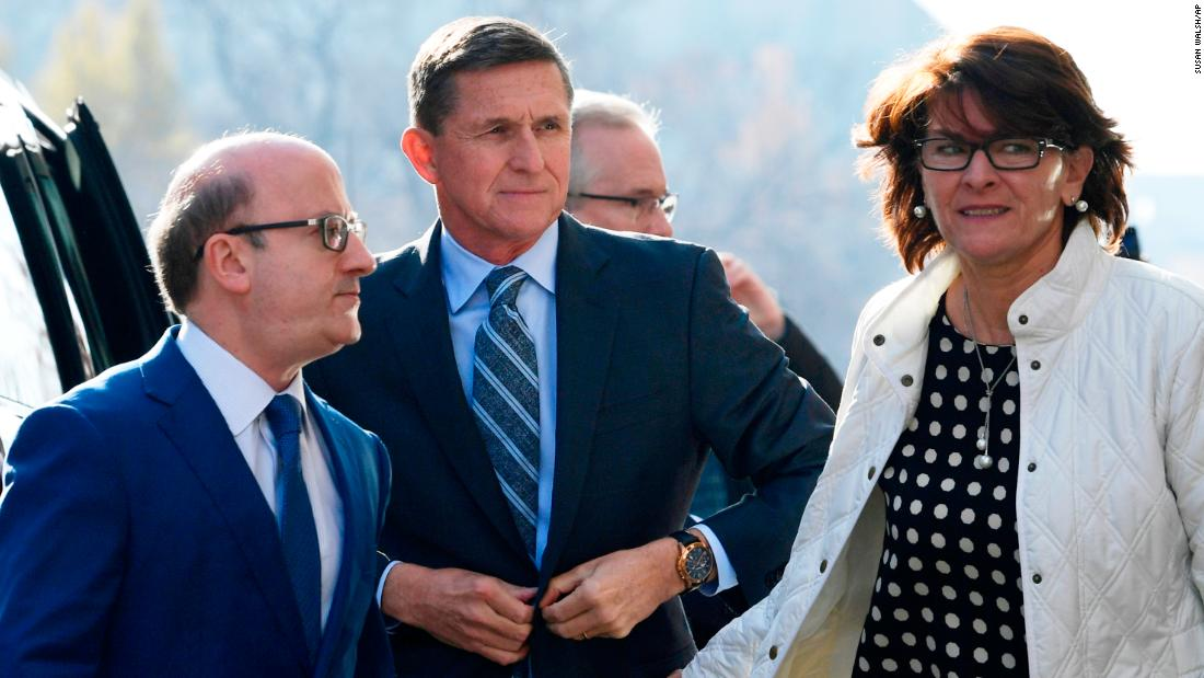 "Michael Flynn, a former national security adviser for US President Donald Trump, arrives at a federal court in Washington on Friday, December 1. Flynn <a href=""http://www.cnn.com/2017/12/01/politics/michael-flynn-charged/index.html"" target=""_blank"">pleaded guilty</a> to lying to the FBI about conversations with Russia's ambassador, and he disclosed that he is cooperating with the office of special counsel Robert Mueller."