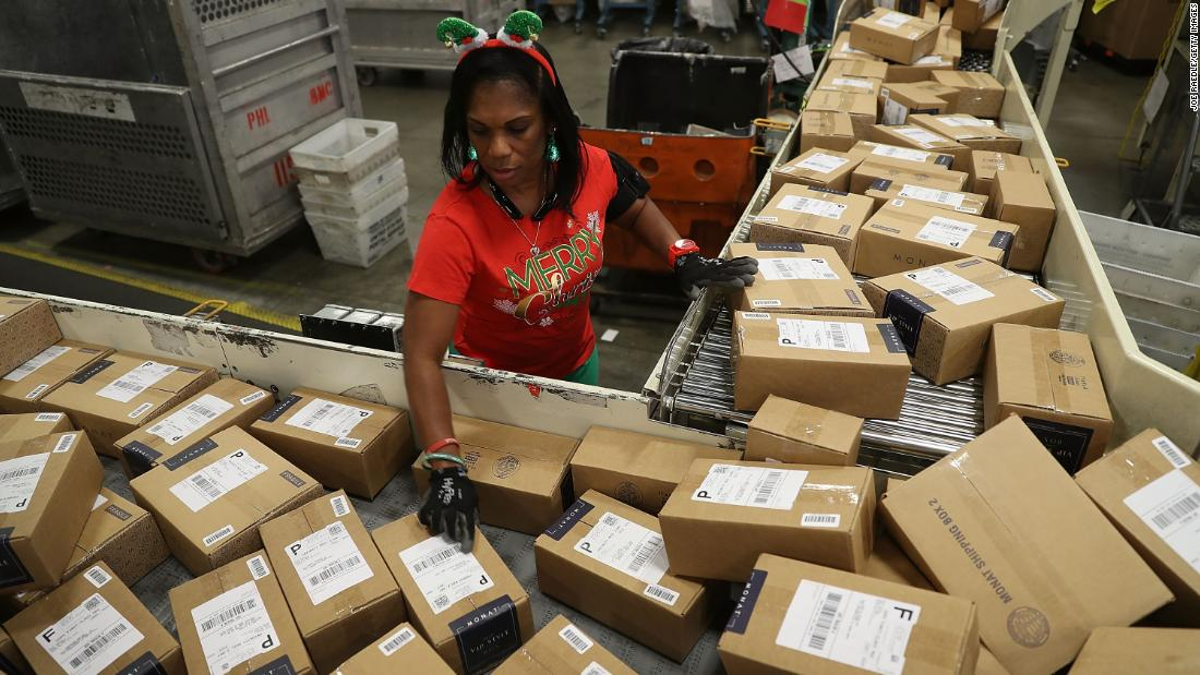 "US Postal Service worker Barbara Lynn sorts boxes at a distribution center in Opa Locka, Florida, on Monday, December 4. The USPS is projecting that more than 850 million packages will be sent during the busy holiday season. <a href=""http://www.cnn.com/2017/11/30/world/gallery/week-in-photos-1201/index.html"" target=""_blank"">See last week in 28 photos</a>"