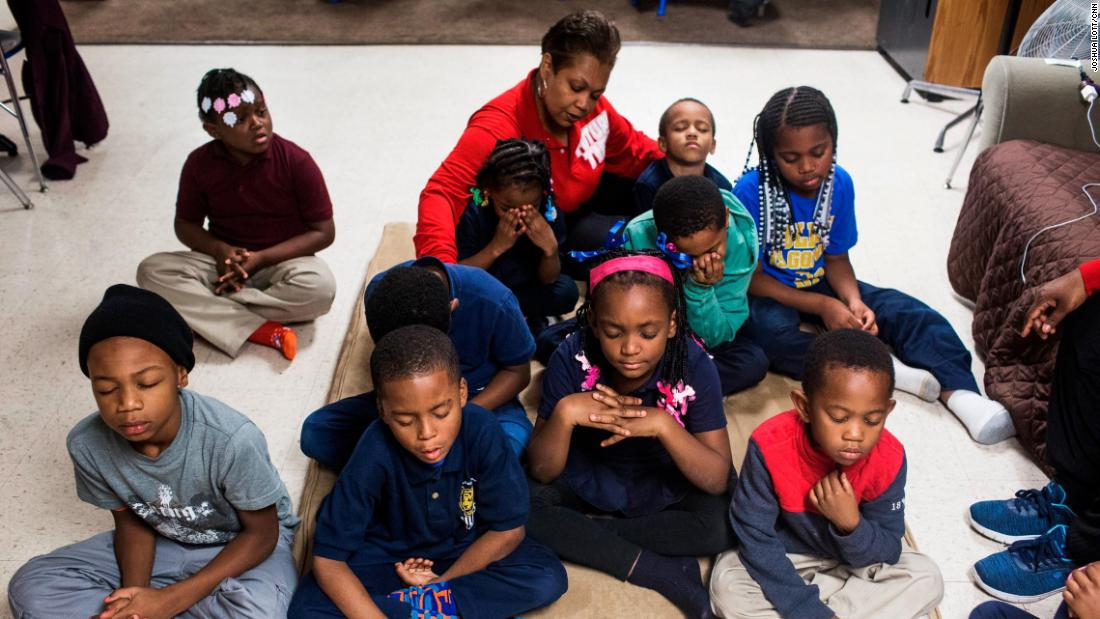 "Future Ties kids take a moment to sit and reflect. Maddox says the program should be a haven from some of the tougher elements of life. ""I want them to have that feeling of being at home, safe and at peace."""