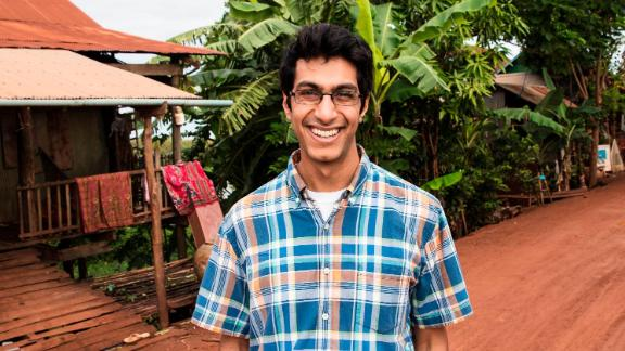 """While volunteering in Cambodia in 2014, then-college student Samir Lakhani saw that many rural communities did not have access to soap or hygiene education. Determined to change that, Samir set up hubs around the country to sanitize and recycle soap from hotels and provide jobs. His organization, Eco-Soap Bank, has donated 186,698 bars of soap in less than three years and helped more than 666,562 people in need. Lakhani's efforts landed him on the list of <a href=""""http://www.cnn.com/videos/tv/2017/11/01/cnn-heroes-top-10-reveal-orig-mc.cnn"""">top 10 CNN Heroes for 2017</a>. Click through the gallery for more information and photos."""