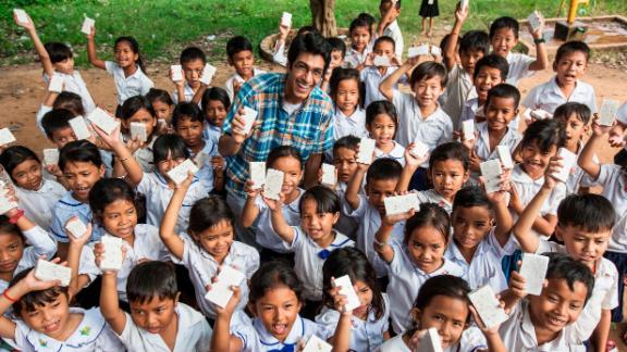 """Lakhani was just a college student when he started his mission, and he says you're never too young to make a difference. """"If you have one part drive and maybe one part naivety or foolishness, you can do anything."""""""