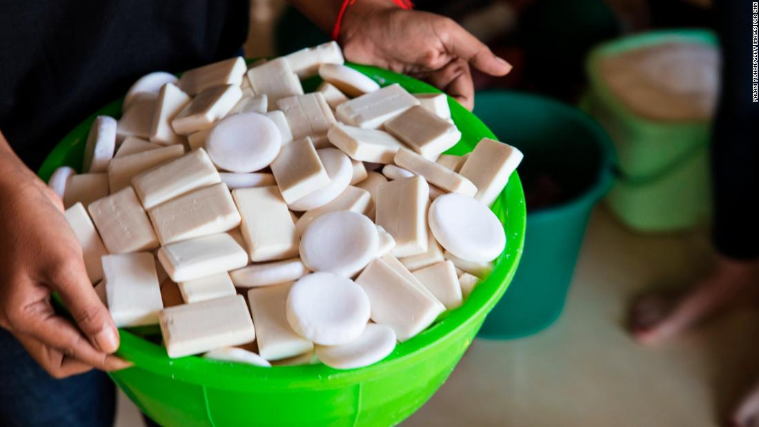 The Eco-Soap Bank takes bars of soap donated from hotels, often barely used, and sanitizes them. The bars are formed into a new bar or made into liquid soap and redistributed.