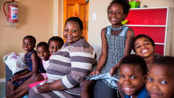Mashale still runs a daycare center, where the parents of Khayelitsha township leave their children in the care of Baphumelele while they work. Mama Rosie is always looking out for the neighborhood.