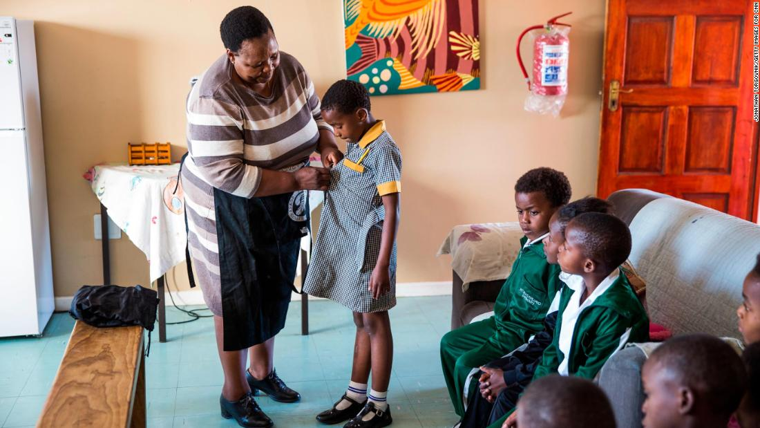 "Caring is in ""Mama Rosie's"" bones. A former schoolteacher, she opened a free daycare center in her Cape Town, South Africa home when she witnessed children playing in a nearby dump."
