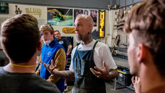 Valencia battled drug dependency and homelessness as a teen. His unstable home life was a source of aimlessness. Once he cleaned up his life and found a passion in custom car restoration, he wanted to share his skill set with youth who could benefit from it.