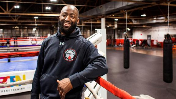 """At Khali Sweeney's Downtown Boxing Gym Youth Program in Detroit, around 100 children get training and academic tutoring five days a week. Sweeney, a high school dropout who was """"always getting into trouble, always fighting,"""" turned his life around. He began mentoring at-risk and troubled kids. His efforts have landed him on the <a href=""""http://www.cnn.com/specials/cnn-heroes"""">2017 list of top 10 CNN Heroes</a>."""