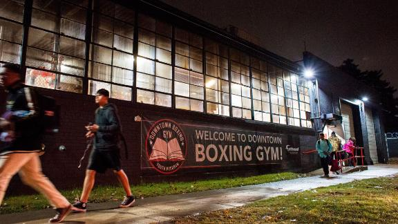 """Sweeney, who had an unstable home life and sought a makeshift family on the streets as a youth, wants the gym to feel like home for a young boxer. """"We want to boost each other up around here all the time. I want a kid to feel that when he walks in the door, that he's a part of a family, a real family."""""""