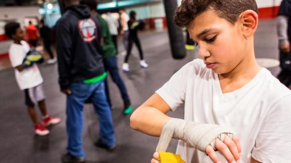 Boxing teaches physical and mental strategy, important elements in the classroom and in the outside world.