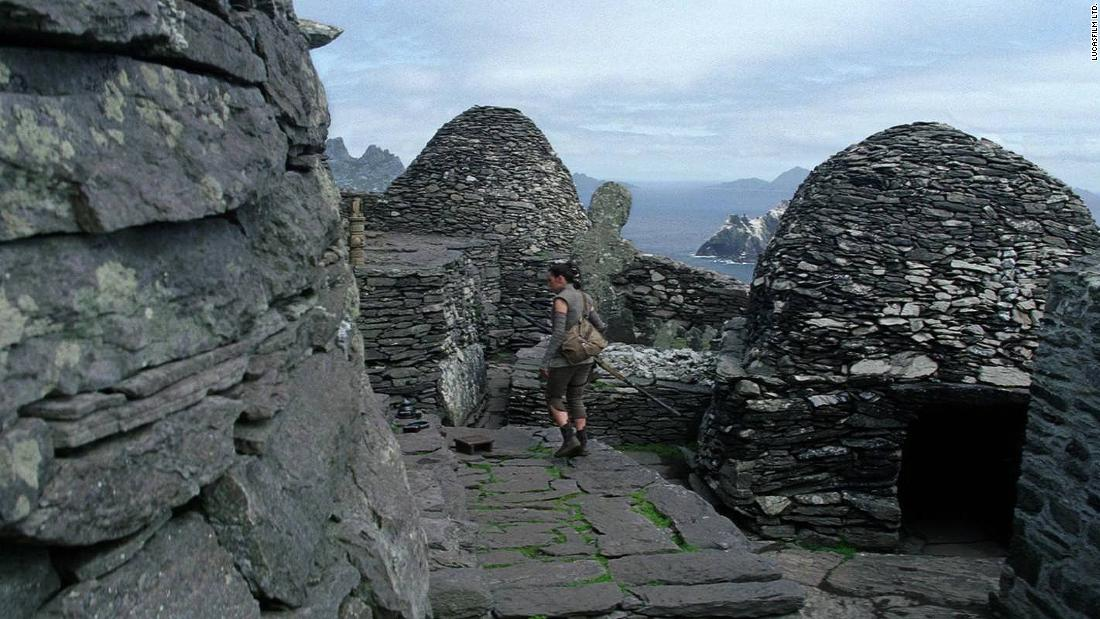 "Stone clochans, as seen in ""The Force Awakens."" The 6th century structures on Skellig Michael, an outcrop off southwest Ireland, were once a Christian monastery, but in the ""Star Wars"" universe double as the site of the first Jedi temple."