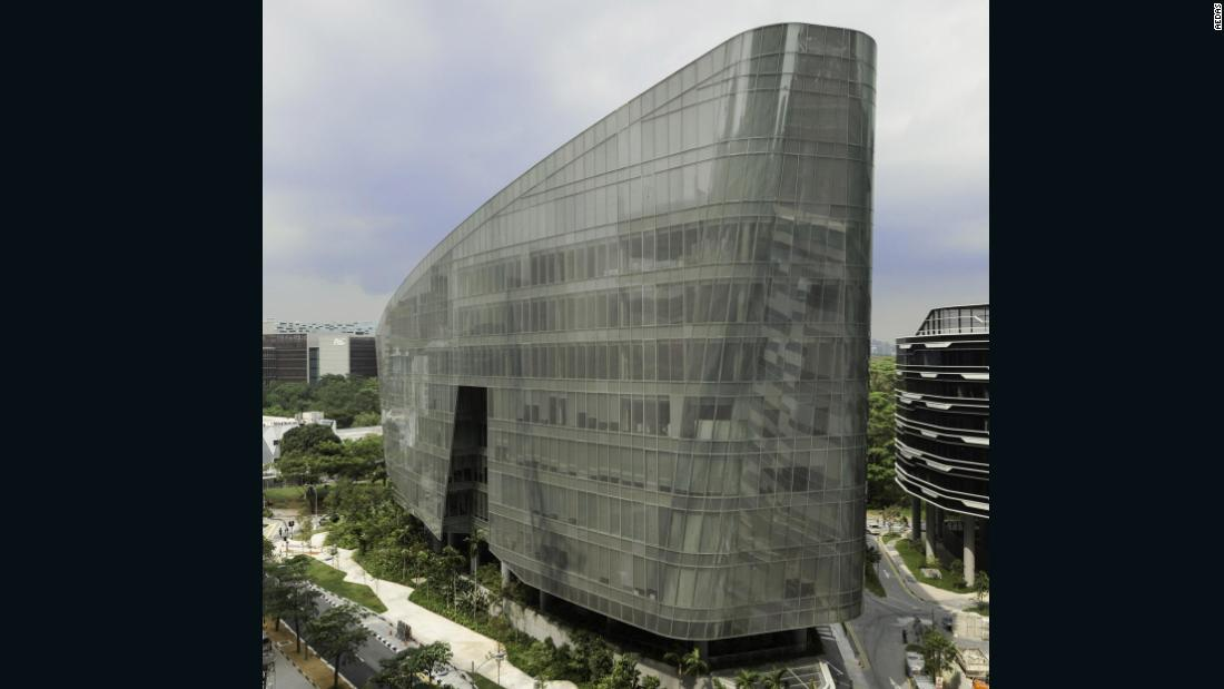 "Architecture firm Aedas took the <a href=""https://www.aedas.com/en/what-we-do/featured-projects/sandcrawler"" target=""_blank"">sandcrawler</a> silhouette and successfully applied it to none other than the Lucasfilm Singapore HQ. Completed in 2013, the design went on to win a number of awards."
