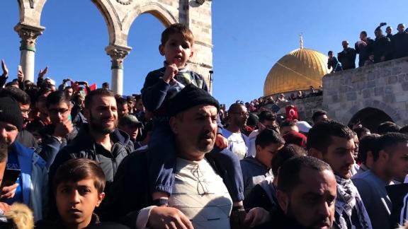 Arwa Damon visits the Al Aqsa mosque in Jerusalem, speaks to worshippers and then witnesses the clashes and demonstrations across the city.