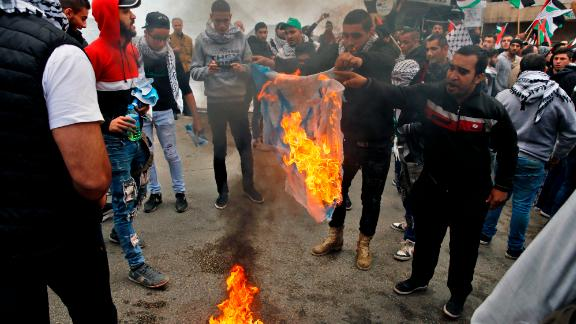 Protesters clash with Lebanese security forces amid protests condemning Trump's decision to recognize Jersualem as Israel's capital.