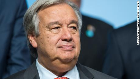 António Guterres, Secretary-General of the United Nations, spoke out over allegations of sexual harassment.