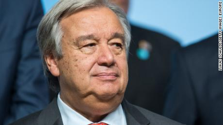 BONN, GERMANY - NOVEMBER 15: Antonio Guterres, Secretary General of the United Nations, is seen during the COP 23 United Nations Climate Change Conference on November 15, 2017 in Bonn, Germany. The conference, which ends on November 17, has brought together 25,000 participants to discuss climate change-related issues and the progress signatory members are making towards fulfilling CO2 and other pollutants reductions. Many signatories of the Paris Agreement are failing to fulfill their commitments towards combating the global temperature rise. Recent data shows that global CO2 levels are again rising after having stagnated the last couple of years.