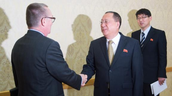 Ri and Feltman met in Pyongyang on December 7.