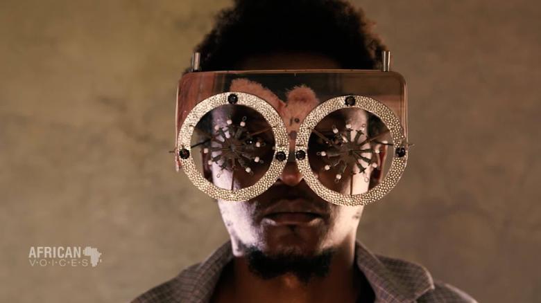 92d06e071b Cyrus Kabiru s spectacular glasses  give trash a second chance  - CNN