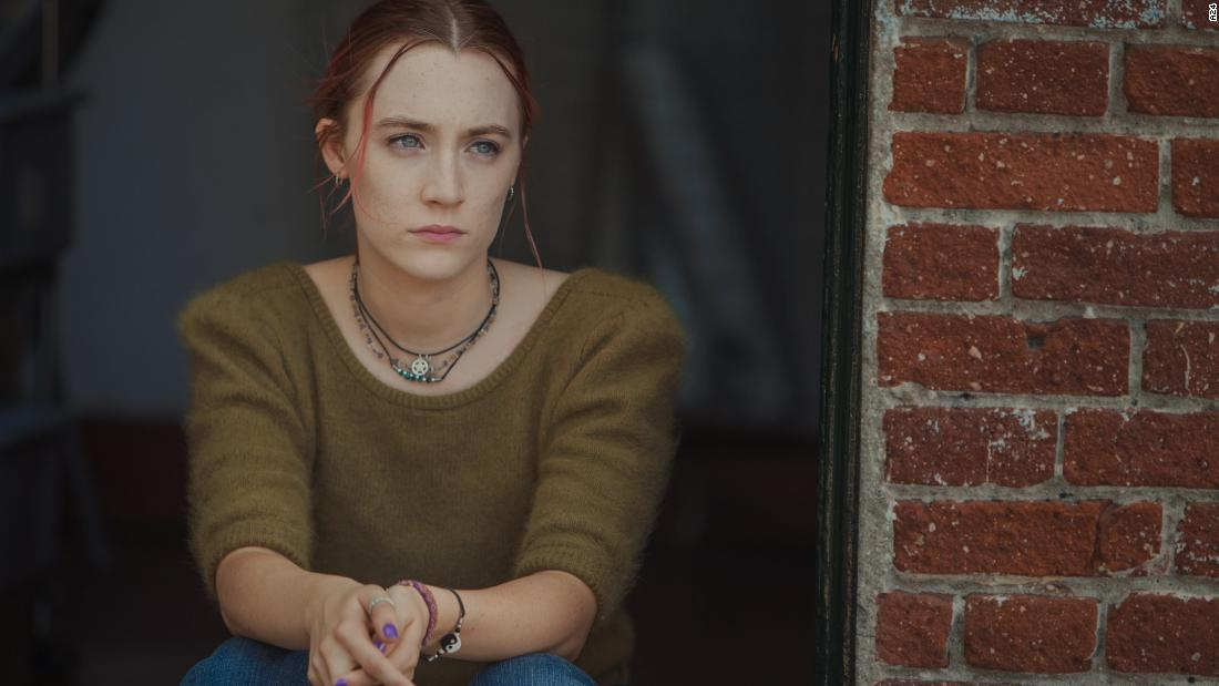 Saoirse Ronan stars in 'Lady Bird.' The film scored four nominations, including best musical or comedy.