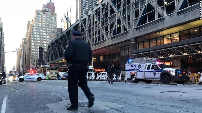 Explosion near Port Authority Bus Terminal