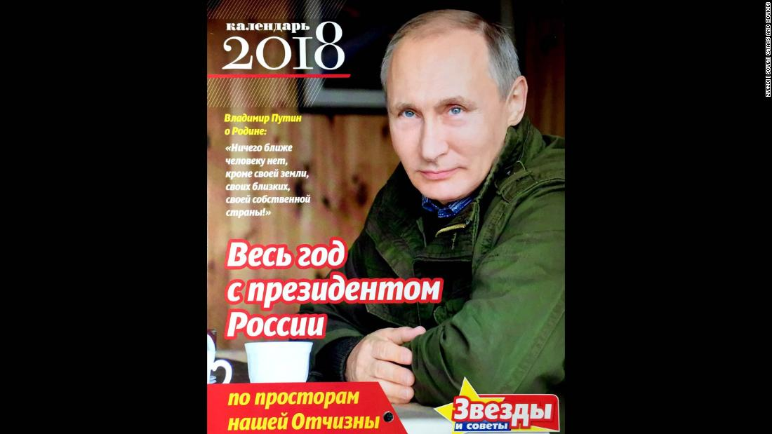 Vladimir Putin Stares Out Into The Future On Cover Of This 2018 Calendar Featuring Photos