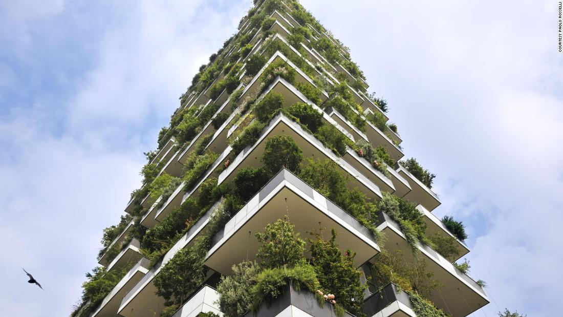 "Milan's ""Vertical Forest"" is an award-winning skyscraper that was completed in 2014. More than 800 trees were planted on steel balconies with the aim of combating urban pollution."
