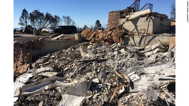 Dr. Antonio Wong's Santa Rosa house was burned to the ground.