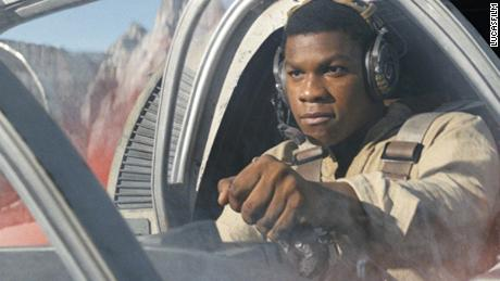 "John Boyega stars as Finn in ""Star Wars Episode VIII: The Last Jedi."""