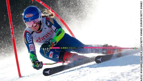 KILLINGTON, VT - NOVEMBER 25: Mikaela Shiffrin of USA competes during the Audi FIS Alpine Ski World Cup Women's Giant Slalom on November 25, 2017 in Killington, Vermont. (Photo by Alexis Boichard/Agence Zoom/Getty Images)