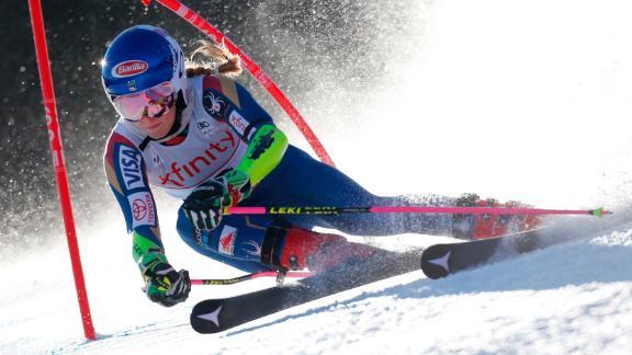 KILLINGTON, VT - NOVEMBER 25: Mikaela Shiffrin of USA competes during the Audi FIS Alpine Ski World Cup Women