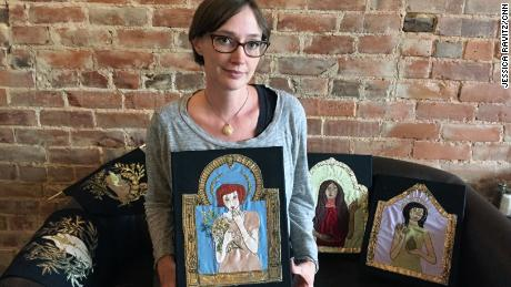 Using the sewing skills passed down by her grandmother, Lindsey Windland created a textile series to raise awareness about the need for safe surgical abortions.