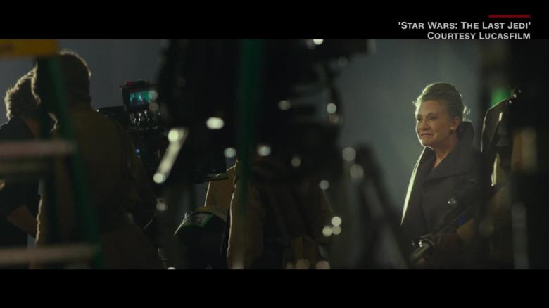 Carrie Fisher and Mark Hamill in 'The Last Jedi' - CNN Movie Pass_00010406