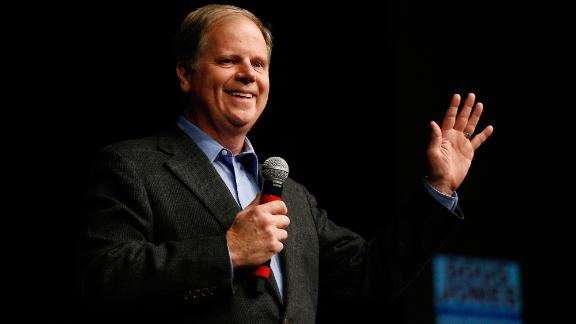 "Democratic senatorial candidate Doug Jones speaks during a ""get out the vote rally,"" Saturday, Dec. 9, 2017, in Birmingham, Ala. (AP Photo/Brynn Anderson)"