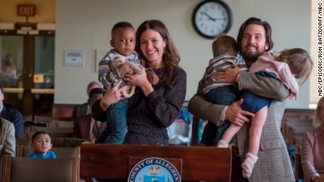 "Mandy Moore plays Rebecca and Milo Ventimiglia plays Jack in ""This is Us."""
