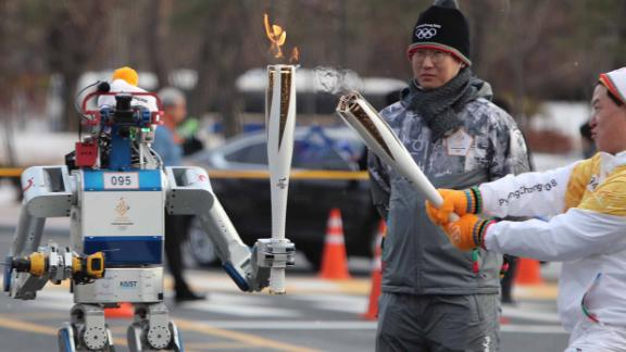 While the Olympics have traditionally been the realm of human competition, it appears robots are coming for next year